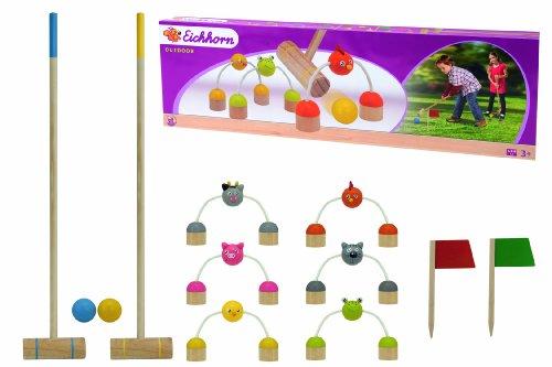 Eichhorn 100004538 - Holz Outdoor Krocket Spiel