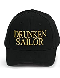 4sold 100% Cotton Ancient Mariner, Captain Cabin Boy Crew First Mate Yachting Baseball Cap inscription Lettering Black Gold