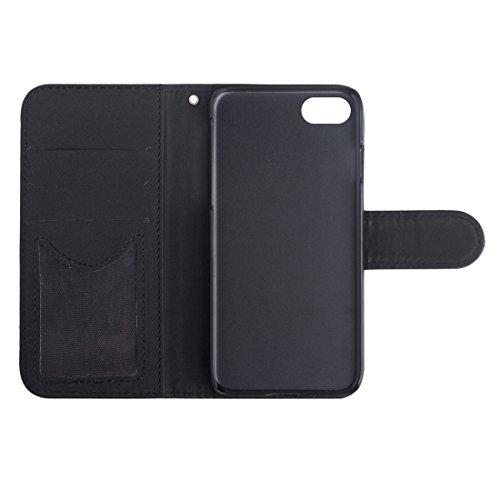GHC Cases & Covers, AA00355 Für iPhone 7 Diamond Gitter Textur Horizontale Flip Leder Schutzhülle mit Halter & Card Slots & Wallet & Photo Frame ( Color : White ) Black