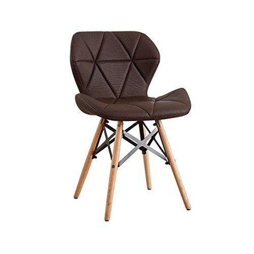 HETAO Kreativ Essensstuhl Sessel Computerstuhl Bürostuhl Tische und Stühle Sessel Studie Schemel Erwachsene 28 * 50 * 73cm, Brown [2 to Upgrade from The Sale of]
