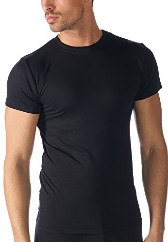 "Mey Basics ""Software"" Herren Shirts 1/2 Arm 42503 Schwarz"