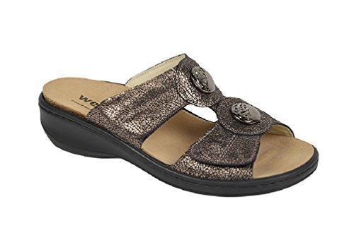 Weeger Keil-Pantoffel mit auswechselbarem Fußbett bronze Gr. 36