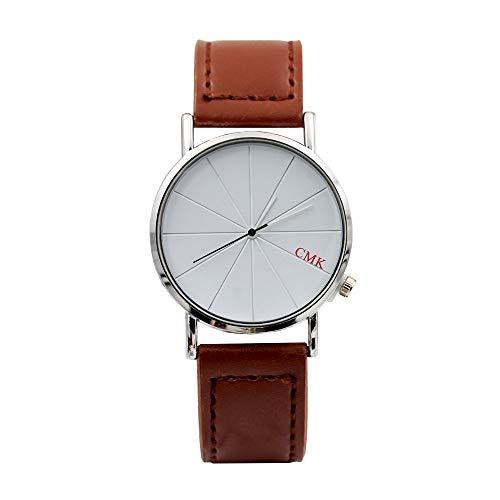 Luckhome Damen Analog Quarz Uhr Uhren Band Handgelenk Mode Farbe Strap Digital Dial Leder Groove Ray Gürteluhr(J)