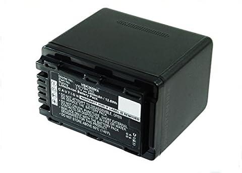 Akku für Panasonic HDC-SD40 -SD80 -SD66 -SD99 -SD60 -SD90 -HS60 -SDX1 SDR-S50 -S70 -H85 HC-V10 (3400mAh)