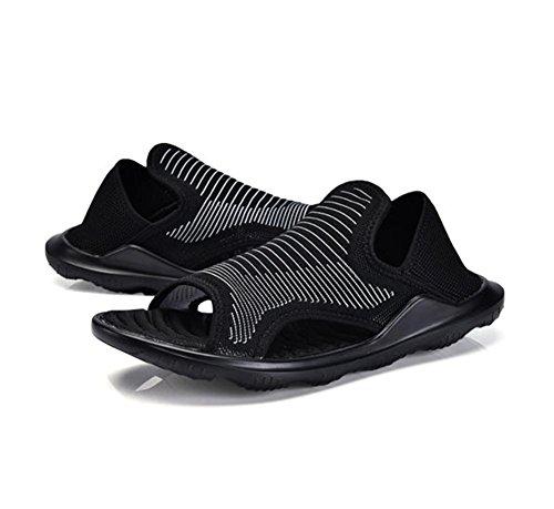 W&XY sandali Spiaggia Uomo Open toe traspirante Allaperto sandali leggero Comfort Pantofole 42