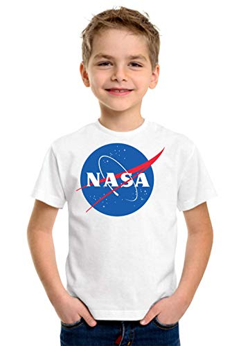 NASA Logo Art Space Travel Exploration Stylish Clo Camiseta Unisex para niños...