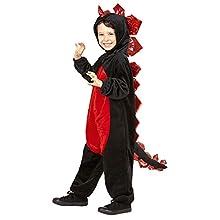 WIDMANN 96863 Black Dragon Kids Costume 128
