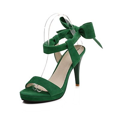 Enochx Donna Sandali Primavera Estate Comfort similpelle Abito casual Stiletto Heel fibbia a piedi Red