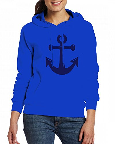 A classic ships or boats anchor Womens Hoodie Fleece Custom Sweartshirts blue