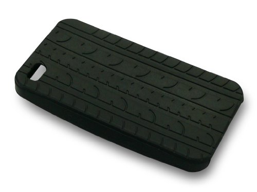 Sandberg Cover iPhone 4/4S tire track Blau schwarz