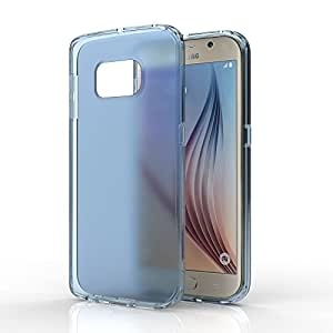 Samsung Galaxy S6 Edge Case,Collen [Super Hybrid Tech] Scratch Resistant + Soft TPU impact resistant bumper for Galaxy S6 Edge (2015) - Blue Mist A03