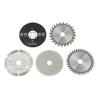 Set de hojas de sierra circular, 5 piezas 15mm / 85mm Juego de discos de corte circular Herramienta de corte de carburo utilizada en máquinas de corte de mármol, sierras de mano eléctricas, sierras de