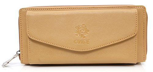 Leatherette Women\'s Wallet with front mobile pocket. Wallet Purse for Girls - Tortilla