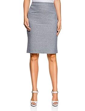 oodji Collection Mujer Falda Recta de Tejido Texturizado