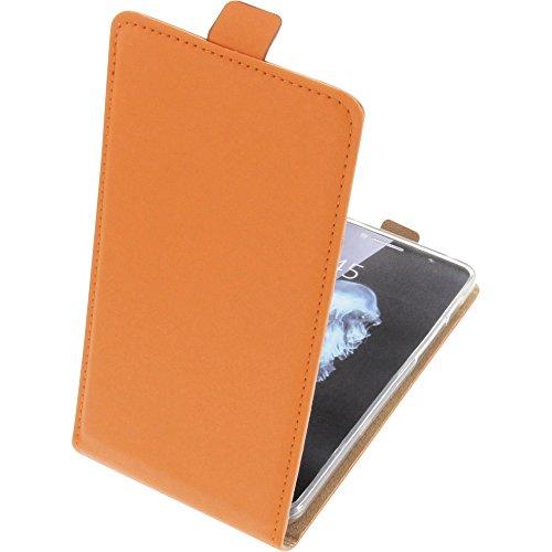 foto-kontor Tasche für Alcatel Flash Plus 2 Smartphone Flipstyle Schutz Hülle orange