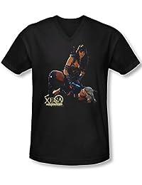 Xena - Männer in der Systemsteuerung mit V-Ausschnitt T-Shirt