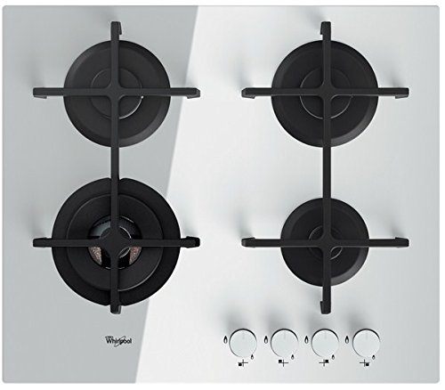 Whirlpool AKT 7000/WH plaque - plaques (Intégré, Gaz, Blanc, Rotatif, En haut devant)