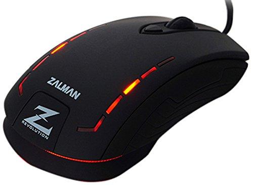 Zalman ZM-M401R - Ratón óptico (2500 DPI, USB) color negro
