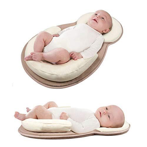 Tragbar Baby Bett, Weich Atmungsaktiv Baby Kuscheln Nest, Neugeborenes Liege Bequem Sicherste Kleinkinder Baby Schlafen Nest - Weich, Tragbar, Sicherste, schlafen, Neugeborenes, Nest, Liege, Kuscheln, Kleinkinder, grau, Bett, Bequem, baby einschlafhilfe bett, Baby, Atmungsaktiv