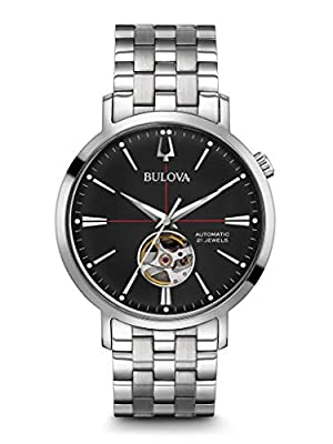Bulova Mens Analogue Classic Automatic Watch with Stainless Steel Strap 96A199