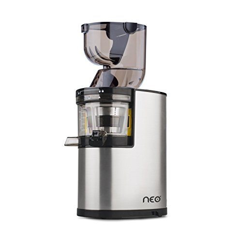 Oscar Neo XL Whole Slow Juicer – extractor de zumo de boca ancha, cold press juicer, 250W, Acero Inoxidable y BPA Free. Garantía DE POR VIDA