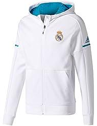 Real Madrid 17/18 - Sweat de Foot à Capuche Anthem Équipe - Blanc