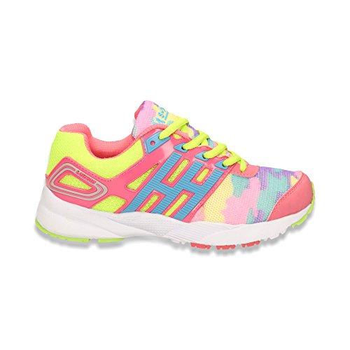 Damen Sneaker Sportschuhe Lauf Freizeit Runners Fitness Low Schuhe Grün/Rot