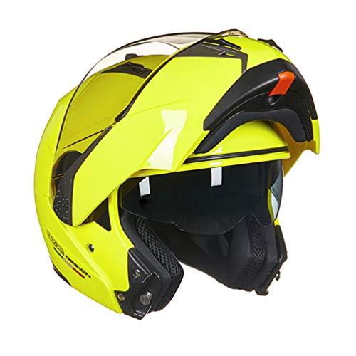 Qianliuk Casco Motocicleta abatible Doble Visera Racing