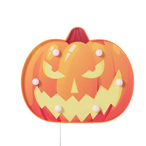 Lampen Nachttischlampen Nachtlichter Buchlampe Tischlampe Halloween Dekoration Styling Licht Fledermaus Spinne Schädel Kopf Kürbis Ghost Festival Night Light @ Yellow Gesicht Kürbis