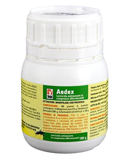 Insetticida Larvicida Antizanzare Aedex - Barattolo 50 Compresse - 100g