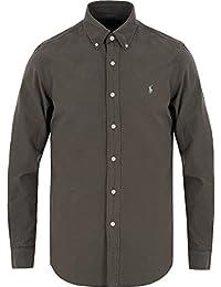 Ralph Lauren - chemise ralph lauren oxford grise