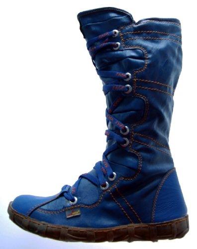 TMA Leder Stiefel Damen Schuhe gefüttert Winter Lederstiefel Schwarz Gelb Blau Rot Grün Weiß Braun Blau