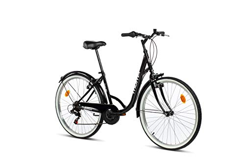 "Moma Bikes Bicicleta Paseo TOWN 26"", SHIMANO 6V, Frenos V-Brake Aluminio"