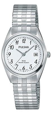 Pulsar Reloj Mujer de Analogico con Correa en Chapado en Acero Inoxidable PH7443X1