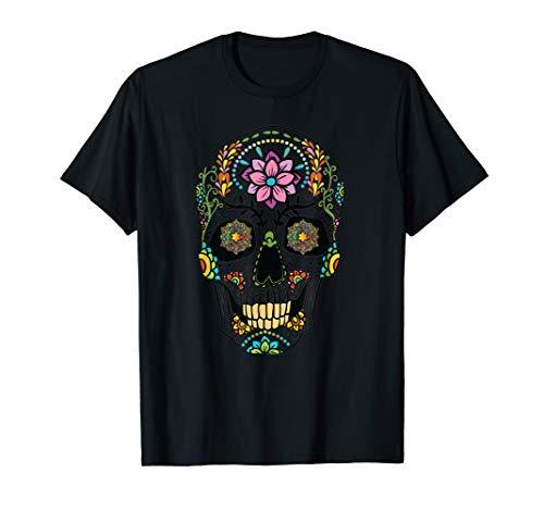 Wirklich beängstigend Sugar Totenkopf Blume Tag der Toten T-Shirt