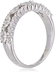 Azaleas Ring 925 Silver Caliber Rhodium Plated, Inlaid With Zircon Stone