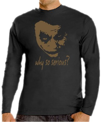 Joker - Why So Serious? Camiseta de manga larga S - XXXL), varios colores Negro/dorado X-Large