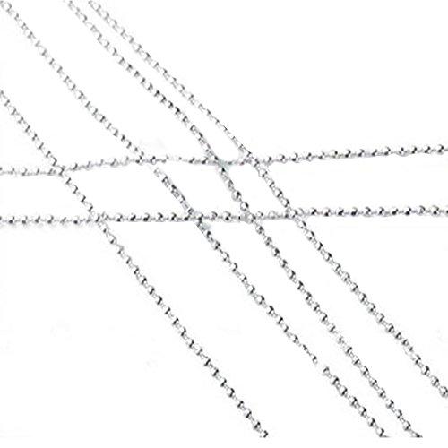 Contever® DIY Arte Accessori Per Unghie Di Catena Beads Argentea