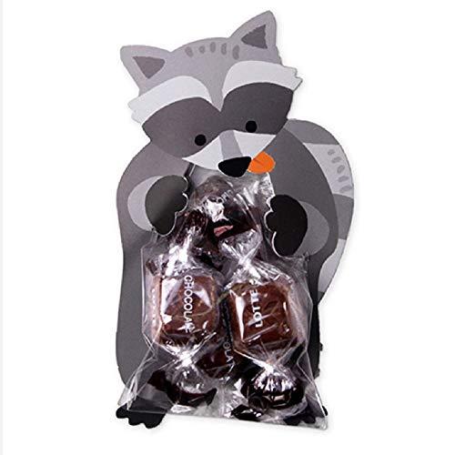 ZHONGYU Schöne Tier Party Taschen Kinder Birthday Party Supplies Give Aways, Wiederverwendbare Süßigkeiten Geschenk Taschen, Geschenk Treat Pouch für Kinder Mädchen Jungen Kleinkinder 10PCS