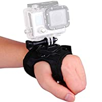 GoPro for Rotating Sports Camera Wrist Hand Strap Mount Rotation 360 Degrees Camera Band Mount for GoPro Hero3 + Hero3 Hero2 Hero4