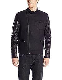 Calvin Klein Jeans Men's Urban Military Core Short Biker Jacket Black
