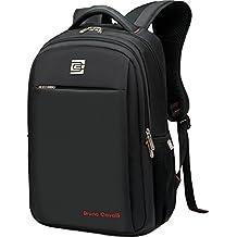 Intellect – Mochila para ordenador portátil 15,6 en negro resistente al agua bolsa de