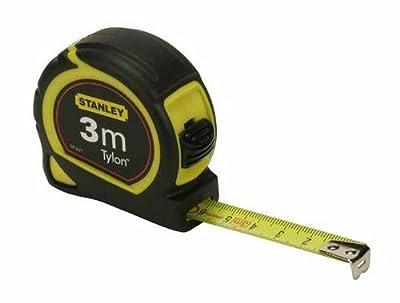 Stanley Bandmass Tylon, 3 m, Tylon-Polymer Schutzschicht, verschiebbarer Endhaken, Kunststoffgehäuse, 1-30-687