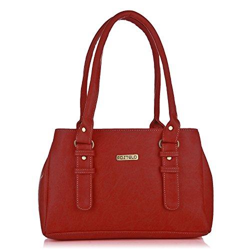 Fostelo Women\'s Handbag (Red,Fsb-415)