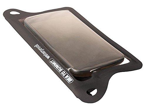Sea to Summit Erwachsene Schutztaschen TPU GUIDE WATERPROOF CASES, schwarz, Doppel Velcro Rolltopverschluss, Befestigungsösen, schwarz/transparent, One Size, 561622