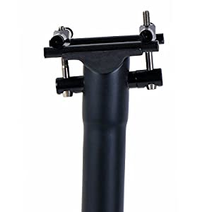 Tija de sillín de bicicleta tija de sillín de bicicleta Ciclismo ciclo MTB bicicleta de carretera de carbono tija de sillín de 27,2-31,6mm 300-400mm Super luz 130-155g, negro