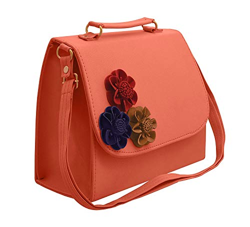 9. BFC Synthetic Peach Pink Women's HandBag