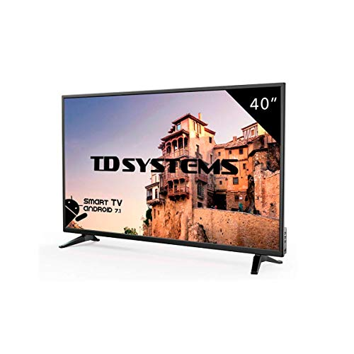 TD Systems K40DLM8FS - Televisor LED de 40' (Full HD Smart, 3X HDMI, VGA, 2X USB) Color Negro