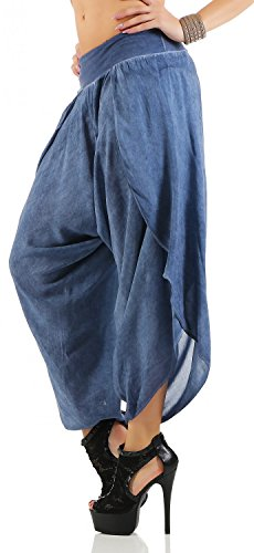 Damen Harem Aladin Pump Hose Hosenrock ( No 540 ) Blau