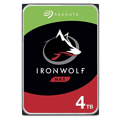 Seagate ST4000VNZ08/VN008 IronWolf 4 TB NAS intern Festplatte (8,9 cm (3,5 Zoll), 5900 u/min, 64 MB Cache, SATA 6 GB/s, silber, FFP (Frustfreie Verpackung)